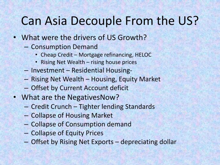 Can asia decouple from the us