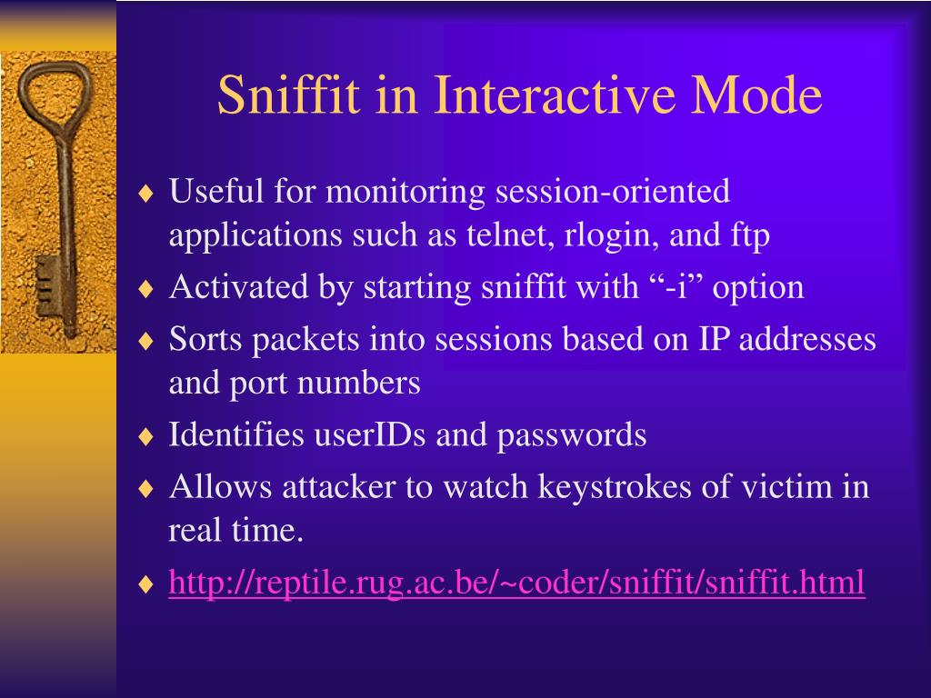 Sniffit in Interactive Mode