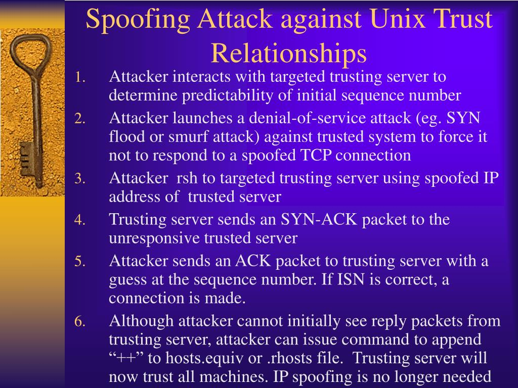 Spoofing Attack against Unix Trust Relationships