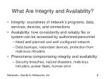 what are integrity and availability