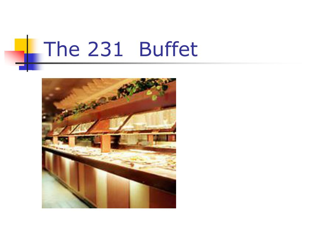 the 231 buffet l.
