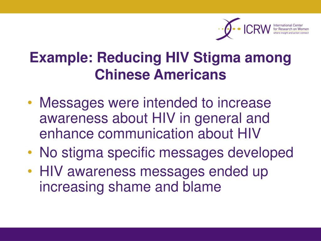 Example: Reducing HIV Stigma among Chinese Americans