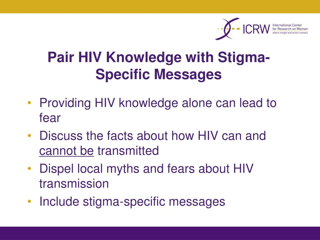 Pair HIV Knowledge with Stigma-Specific Messages