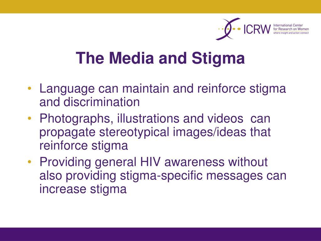 The Media and Stigma