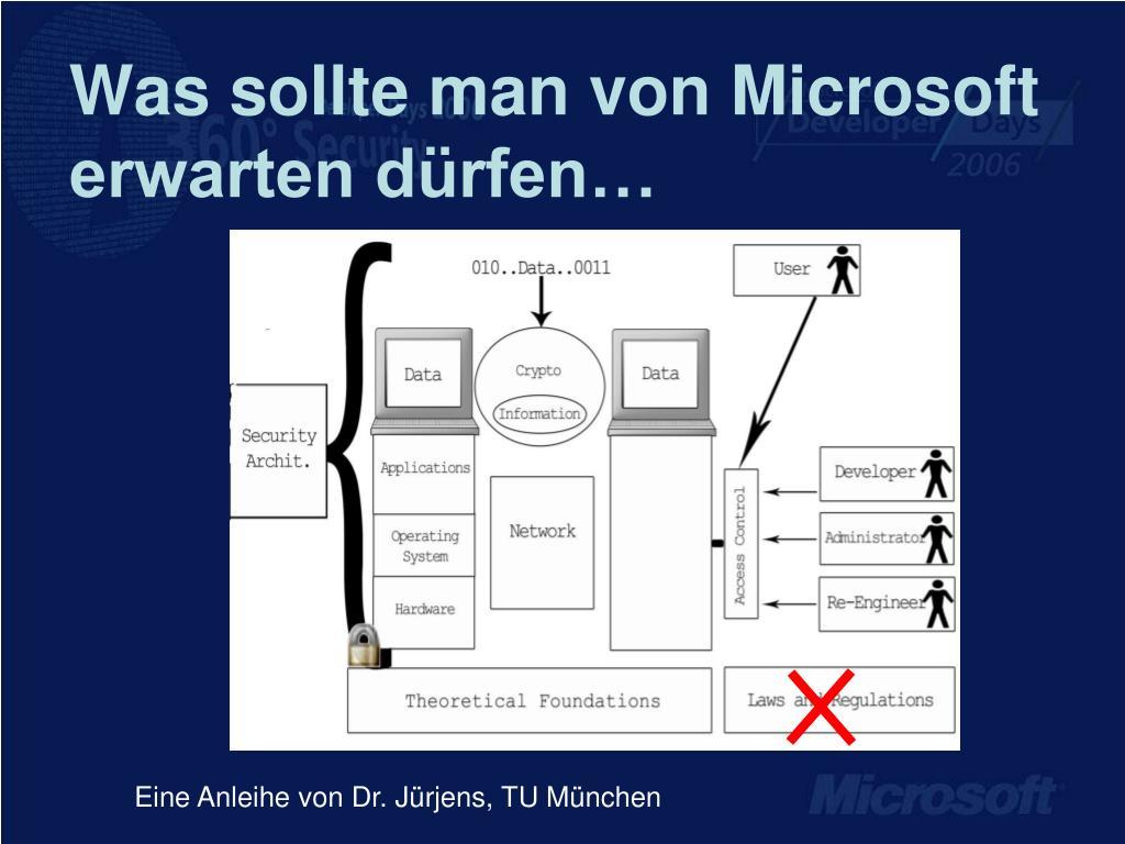 Was sollte man von Microsoft erwarten dürfen…