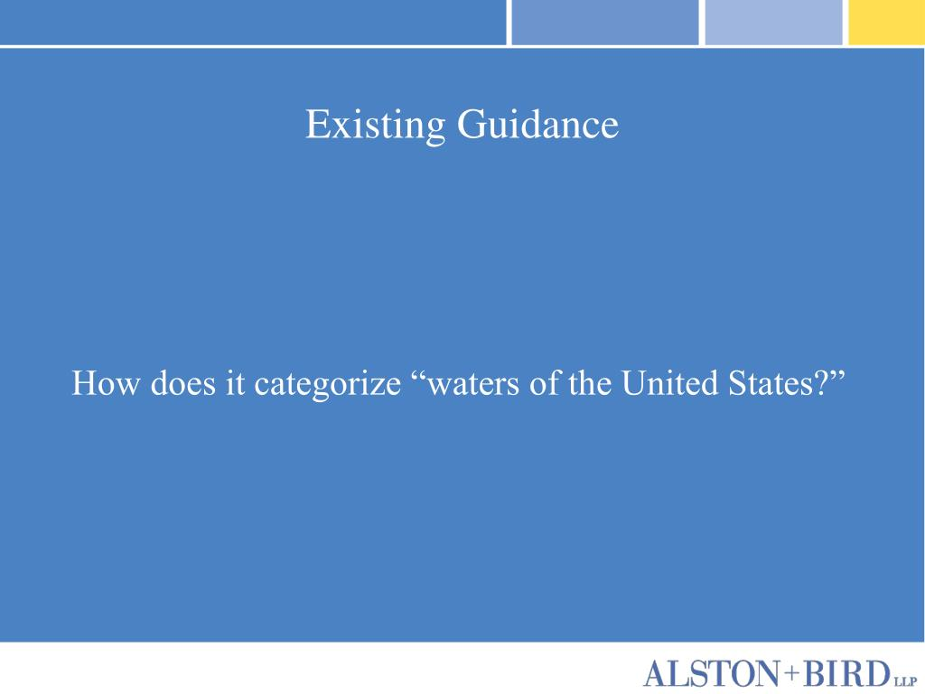 Existing Guidance