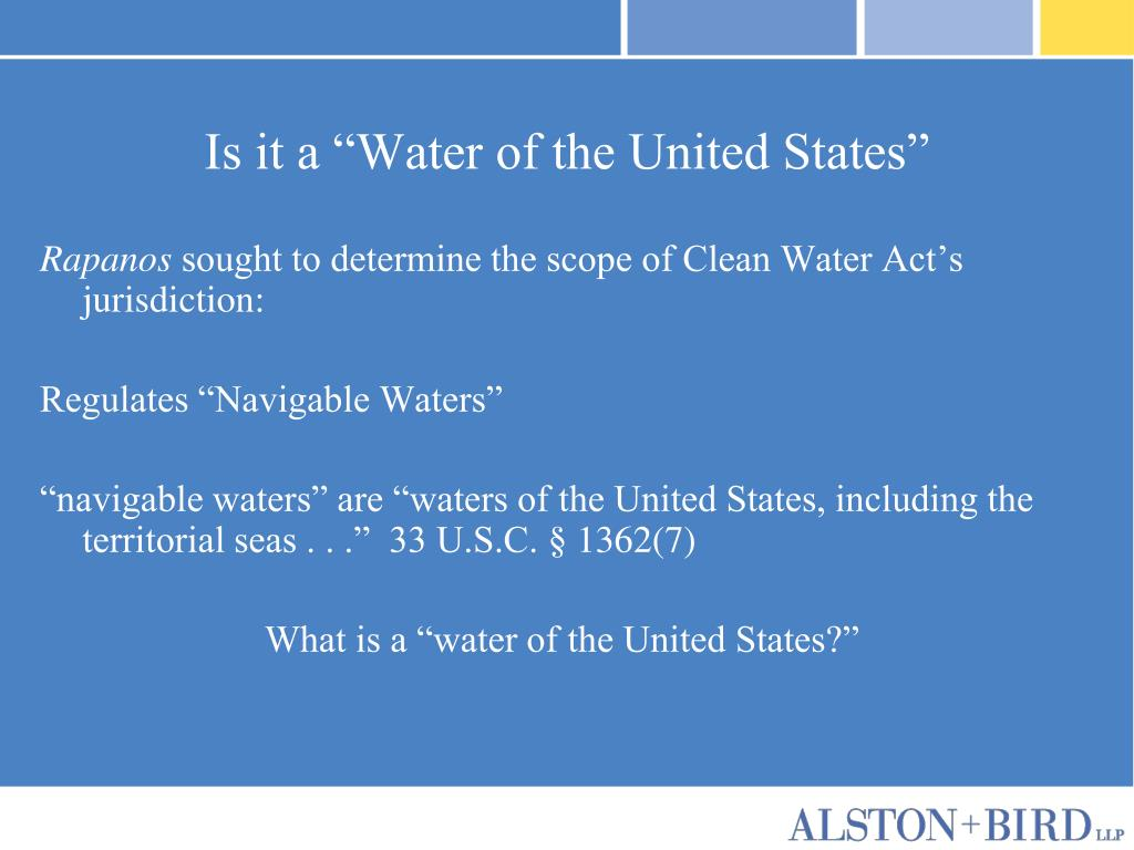 """Is it a """"Water of the United States"""""""