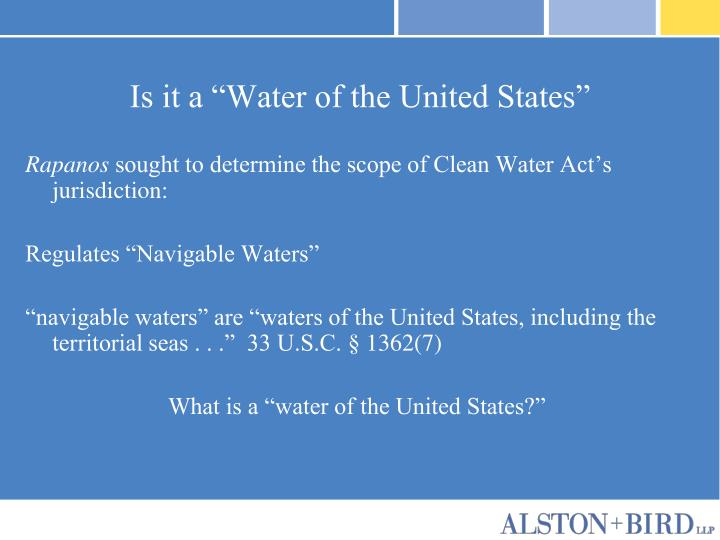 Is it a water of the united states