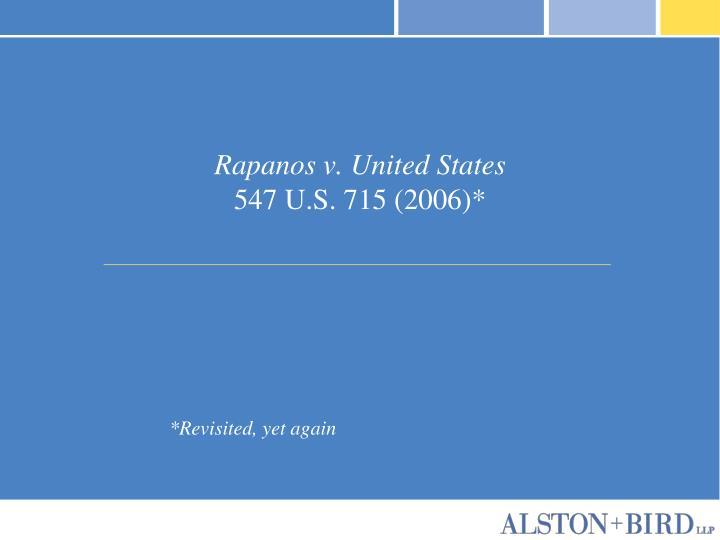 Rapanos v united states 547 u s 715 2006