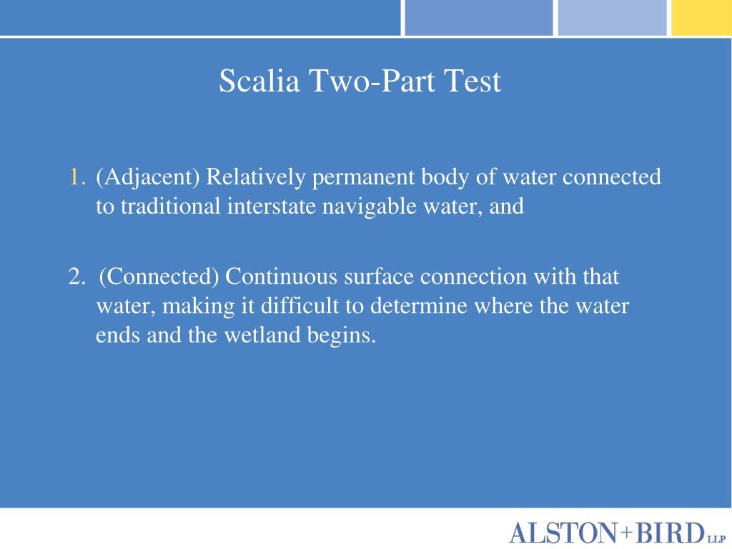 Scalia Two-Part Test