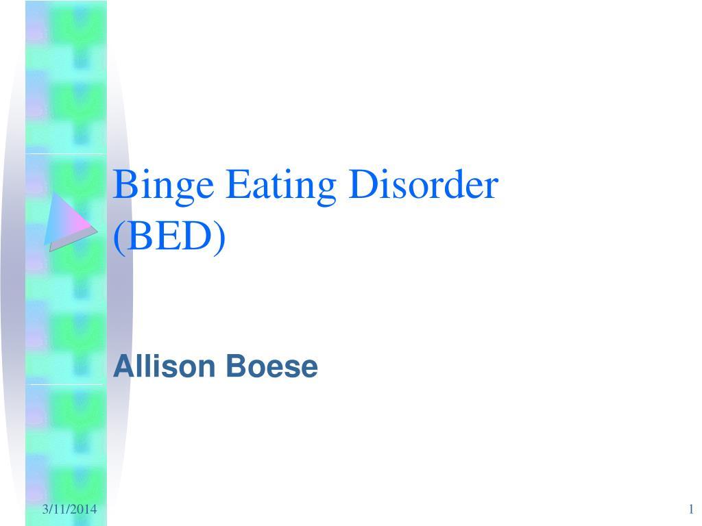binge eating disorder bed l.