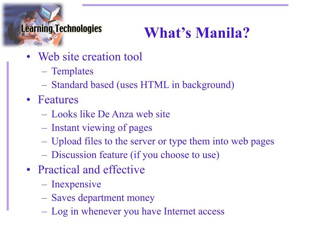 What's Manila?