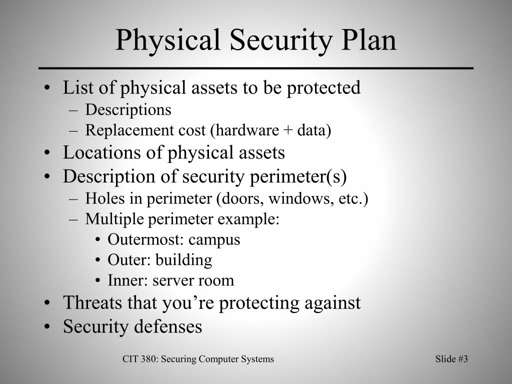 Physical Security Plan