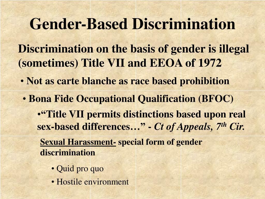Gender-Based Discrimination