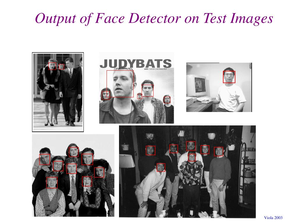 Output of Face Detector on Test Images