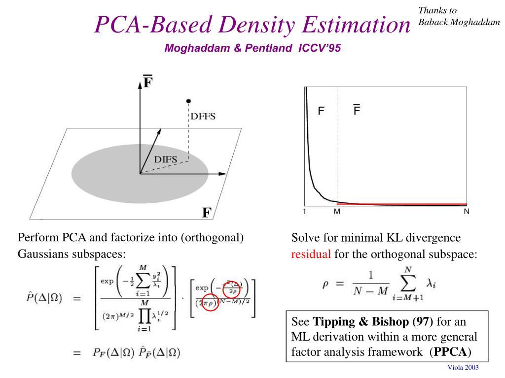 PCA-Based Density Estimation