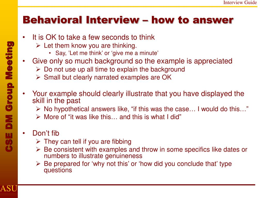 Behavioral Interview – how to answer