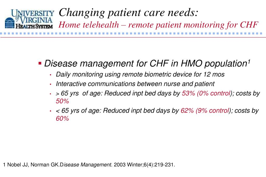 Changing patient care needs: