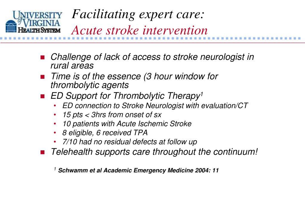 Facilitating expert care: