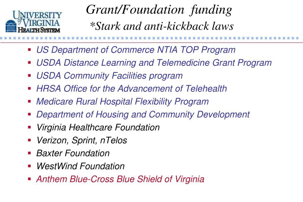 Grant/Foundation  funding