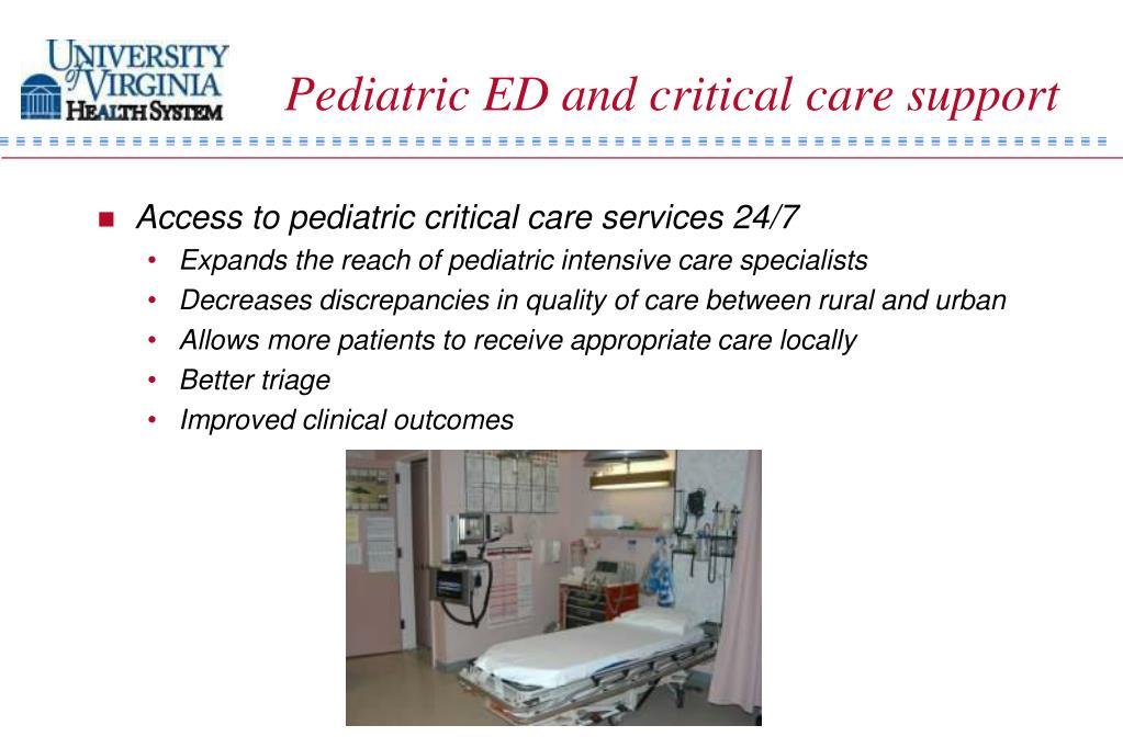 Pediatric ED and critical care support