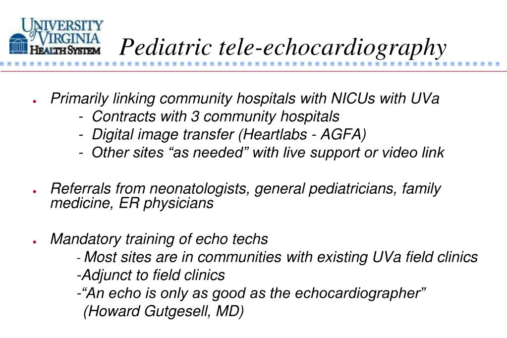 Pediatric tele-echocardiography