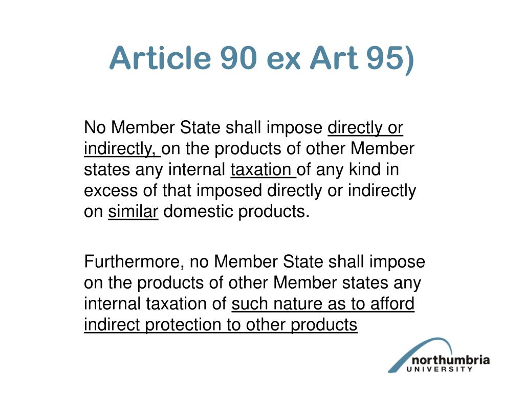 Article 90 ex Art 95)