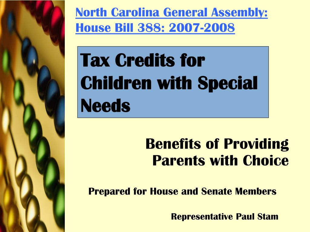 North Carolina General Assembly: House Bill 388: 2007-2008
