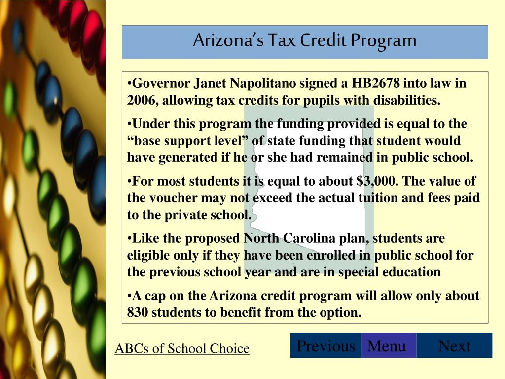 Arizona's Tax Credit Program