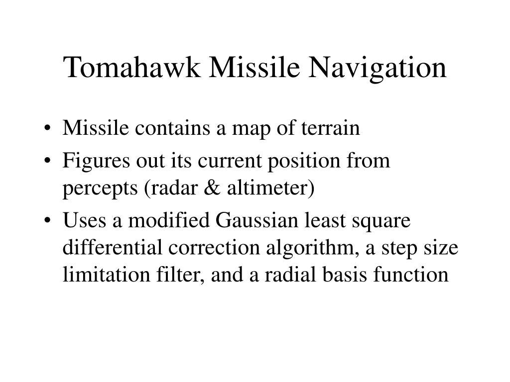 Tomahawk Missile Navigation