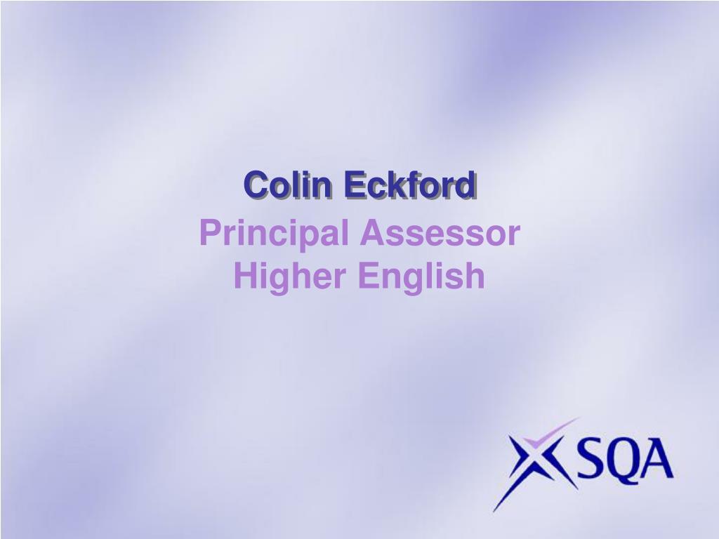 Colin Eckford