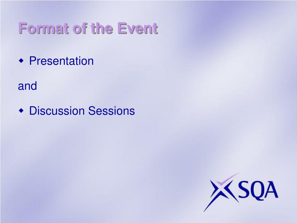 Format of the Event