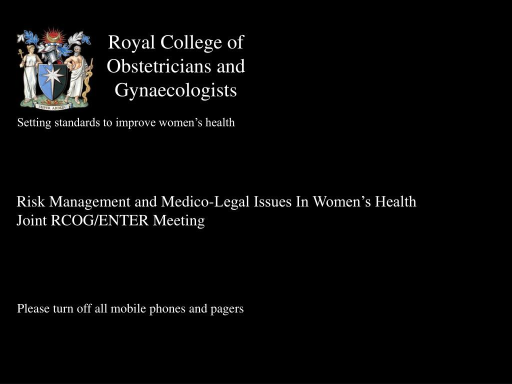 royal college of obstetricians and gynaecologists l.