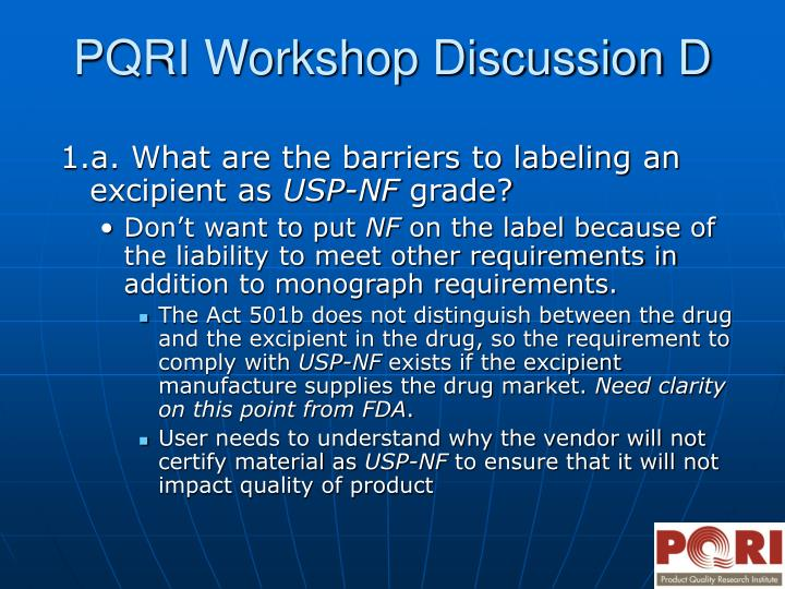 Pqri workshop discussion d3