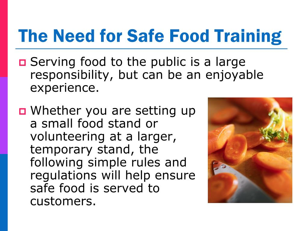 Serving food to the public is a large responsibility, but can be an enjoyable experience.