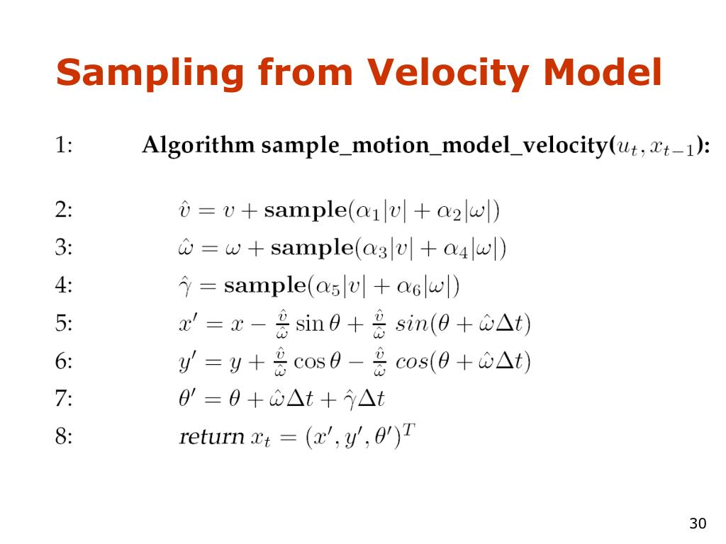 Sampling from Velocity Model