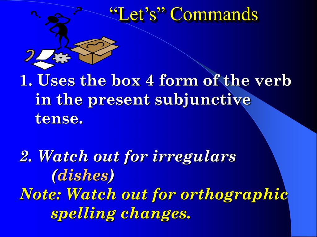 """""""Let's"""" Commands"""