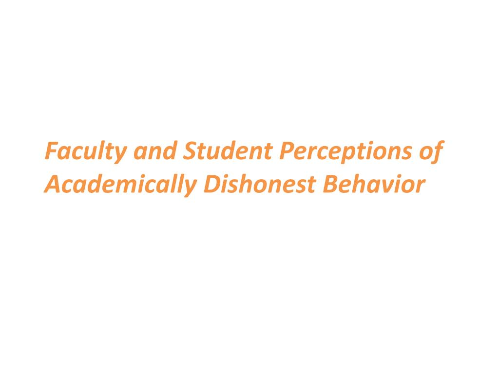 Faculty and Student Perceptions of Academically