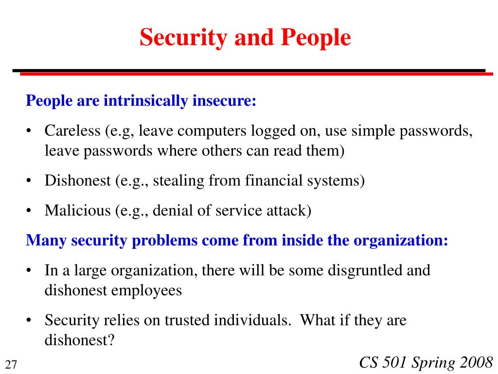Security and People
