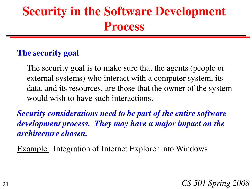 Security in the Software Development Process