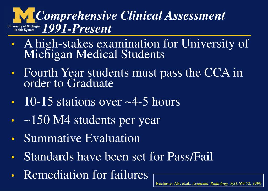 A high-stakes examination for University of Michigan Medical Students