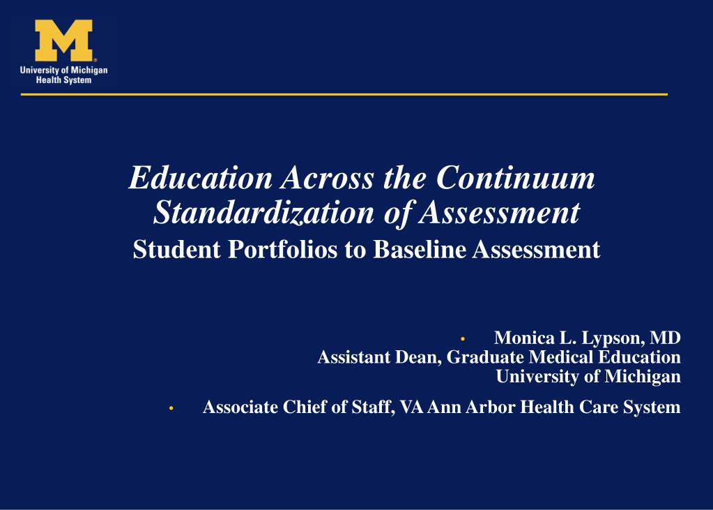 Education Across the Continuum