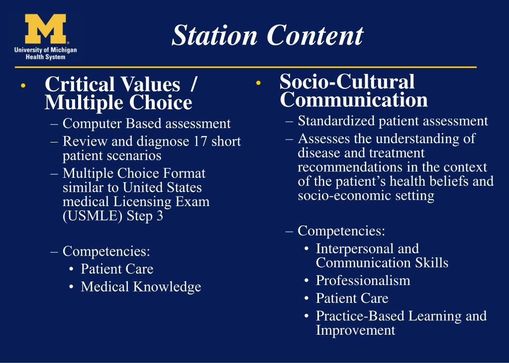 Critical Values  / Multiple Choice