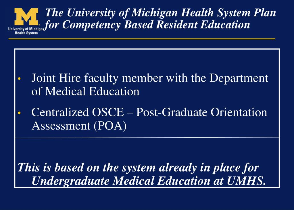 Joint Hire faculty member with the Department of Medical Education