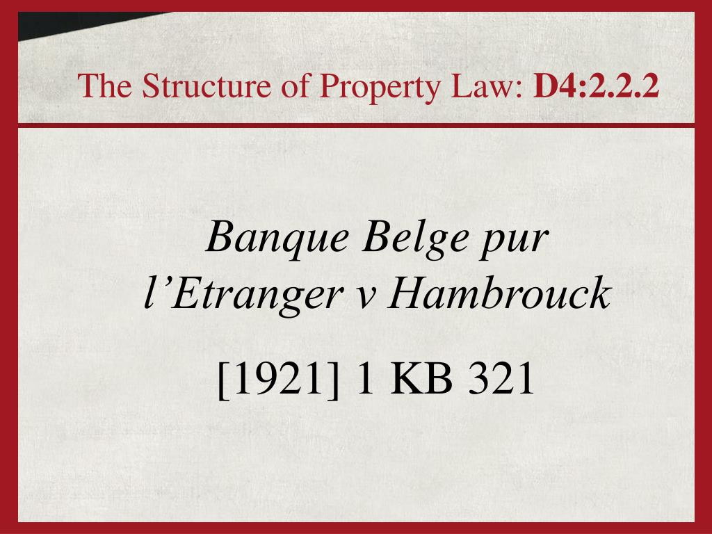 The Structure of Property Law:
