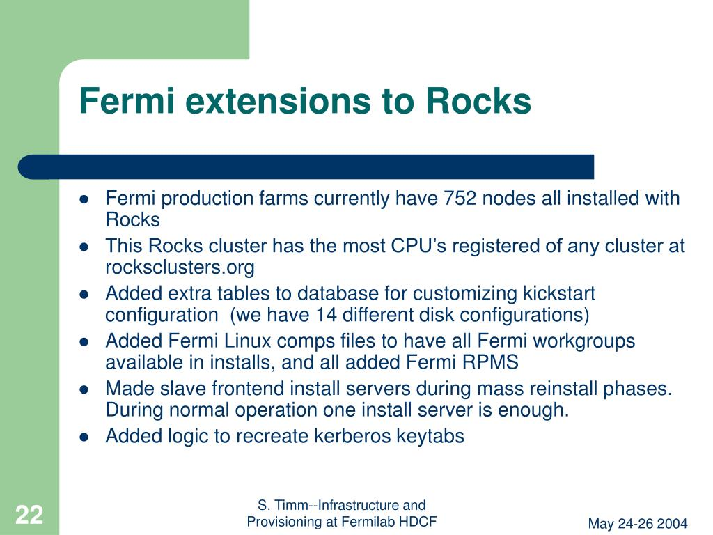 Fermi extensions to Rocks