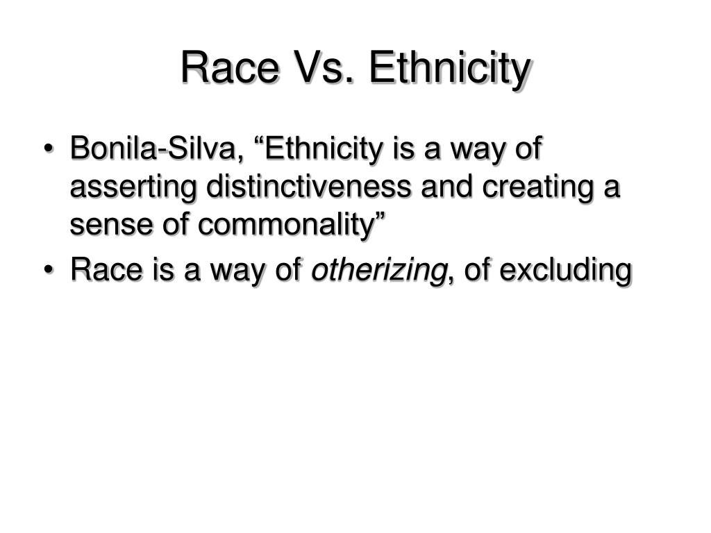 Race Vs. Ethnicity