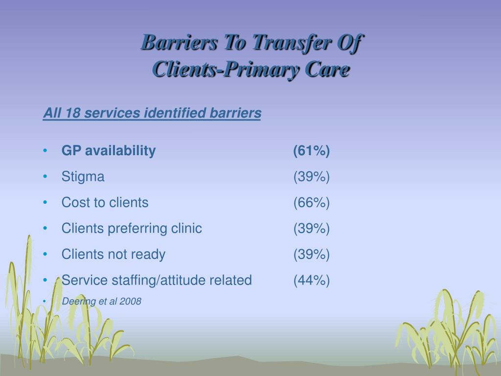 Barriers To Transfer Of