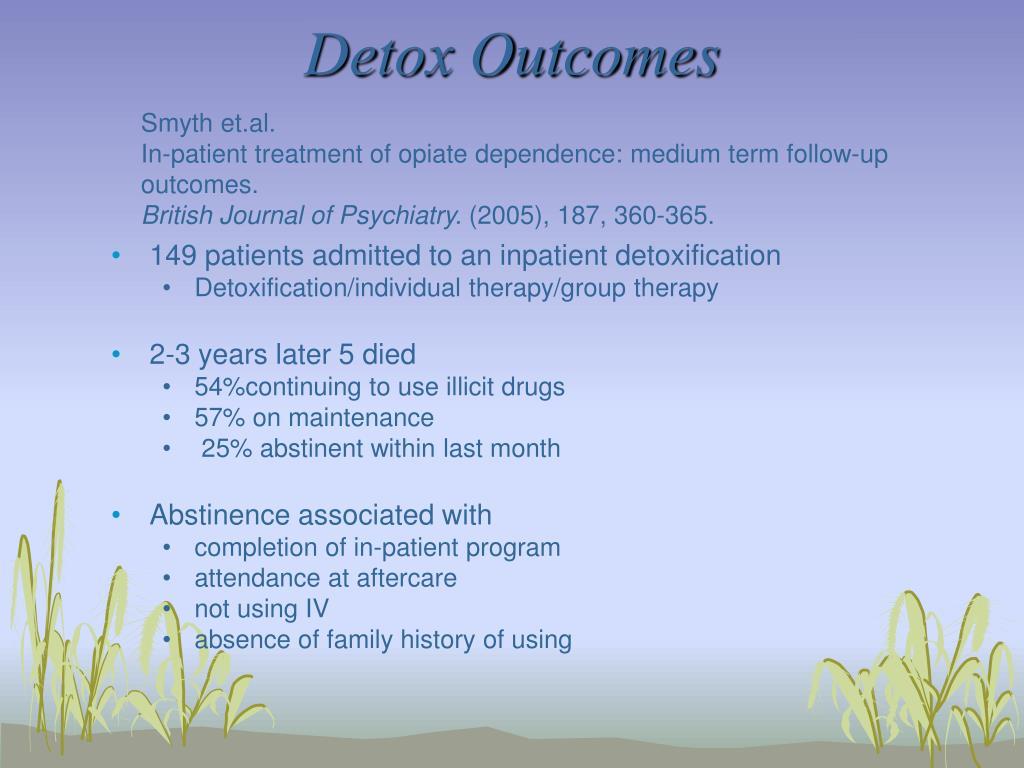 Detox Outcomes