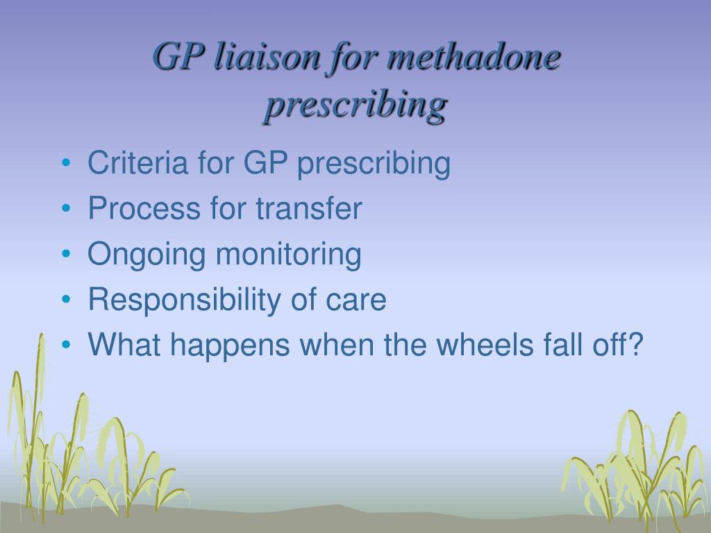 GP liaison for methadone prescribing